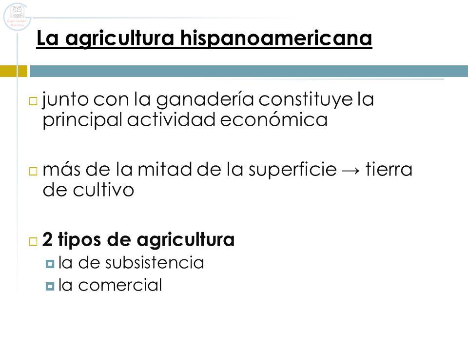La agricultura hispanoamericana