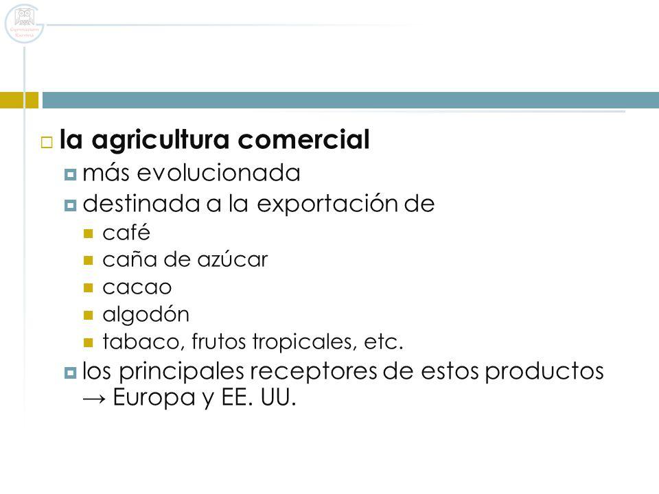 la agricultura comercial