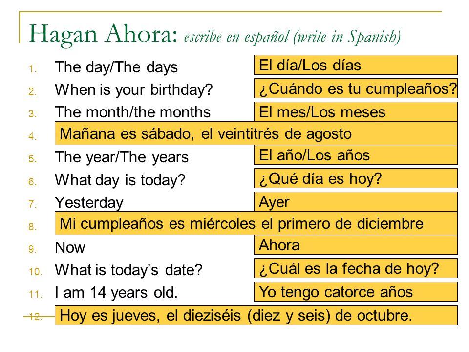 Hagan Ahora: escribe en español (write in Spanish)