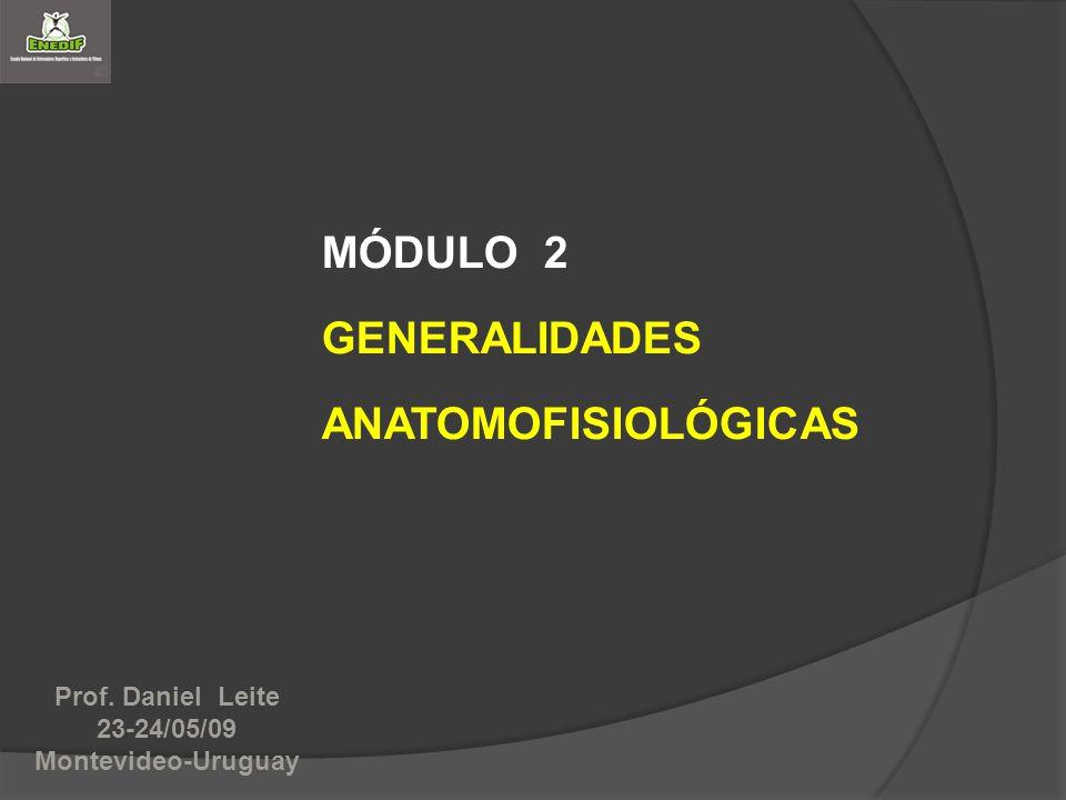 MÓDULO 2 GENERALIDADES ANATOMOFISIOLÓGICAS