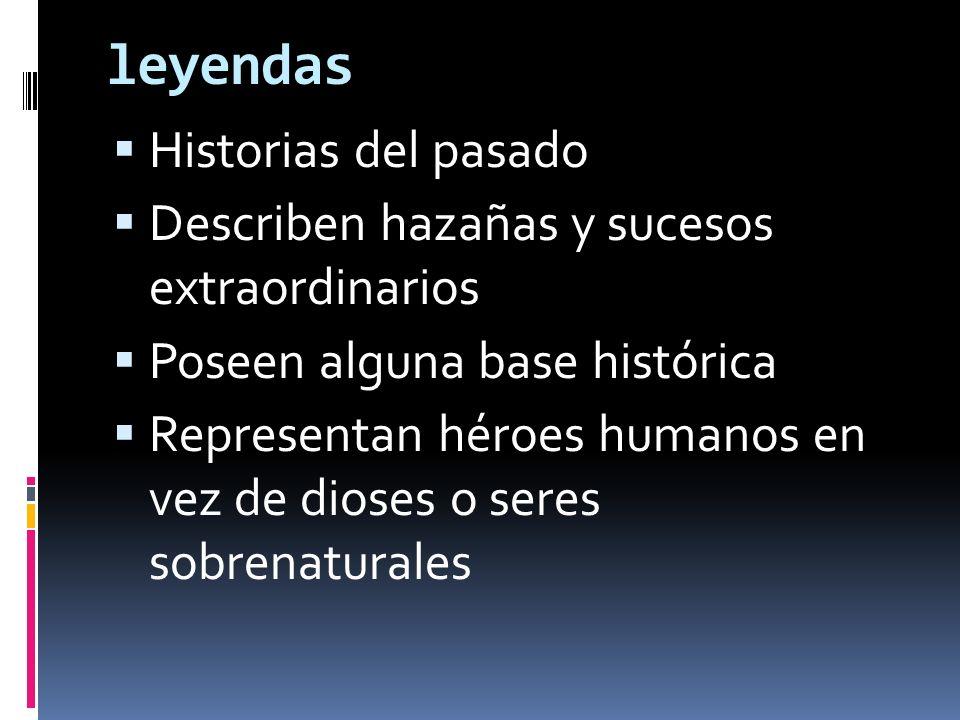 leyendas Historias del pasado