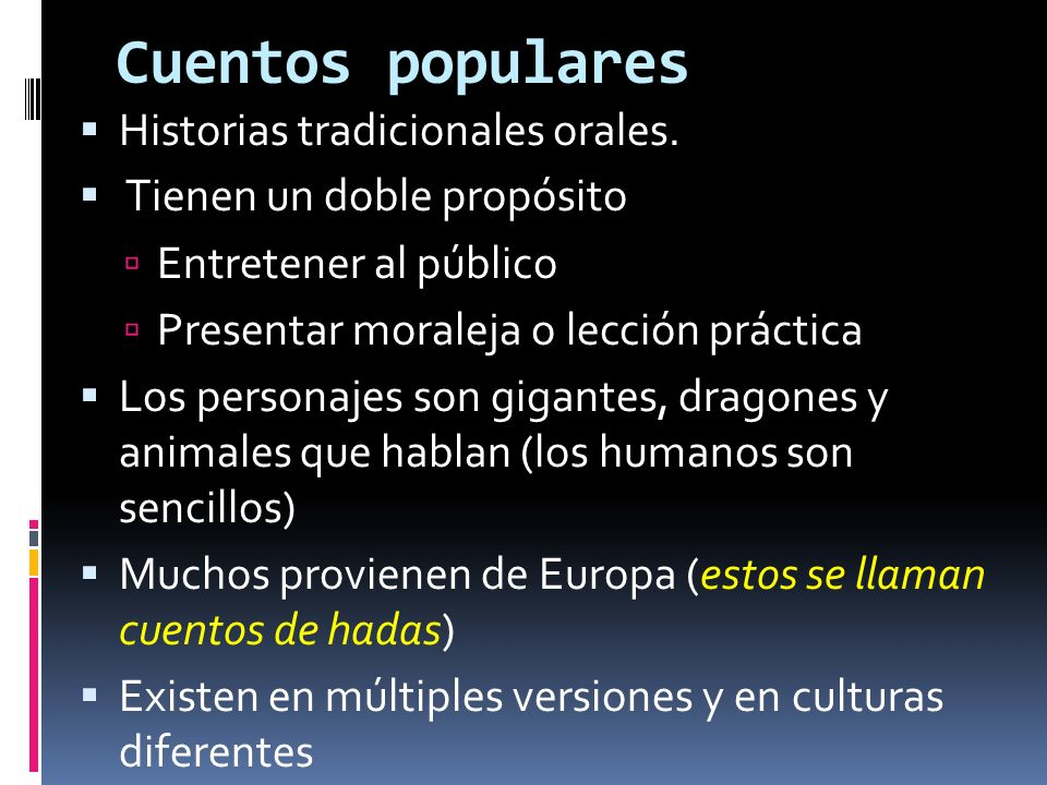 Cuentos populares Historias tradicionales orales.