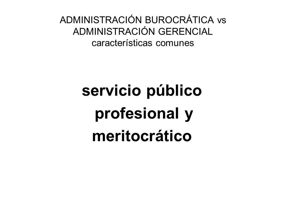 servicio público profesional y meritocrático