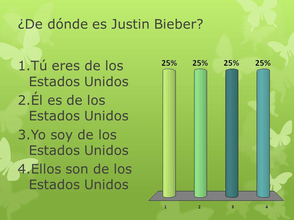 ¿De dónde es Justin Bieber