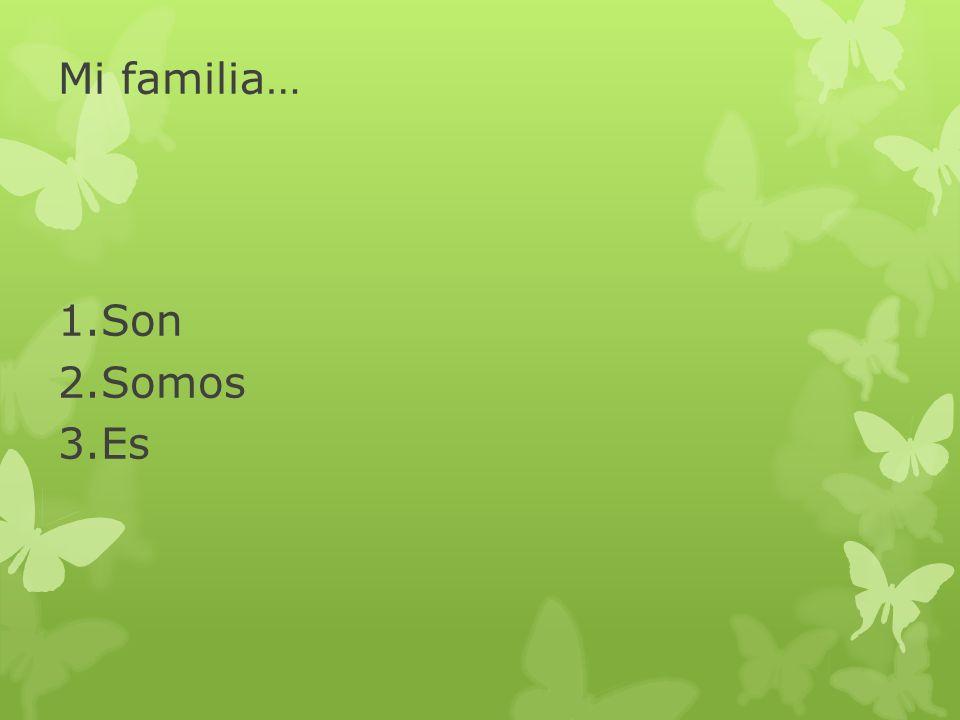 Mi familia… Son Somos Es