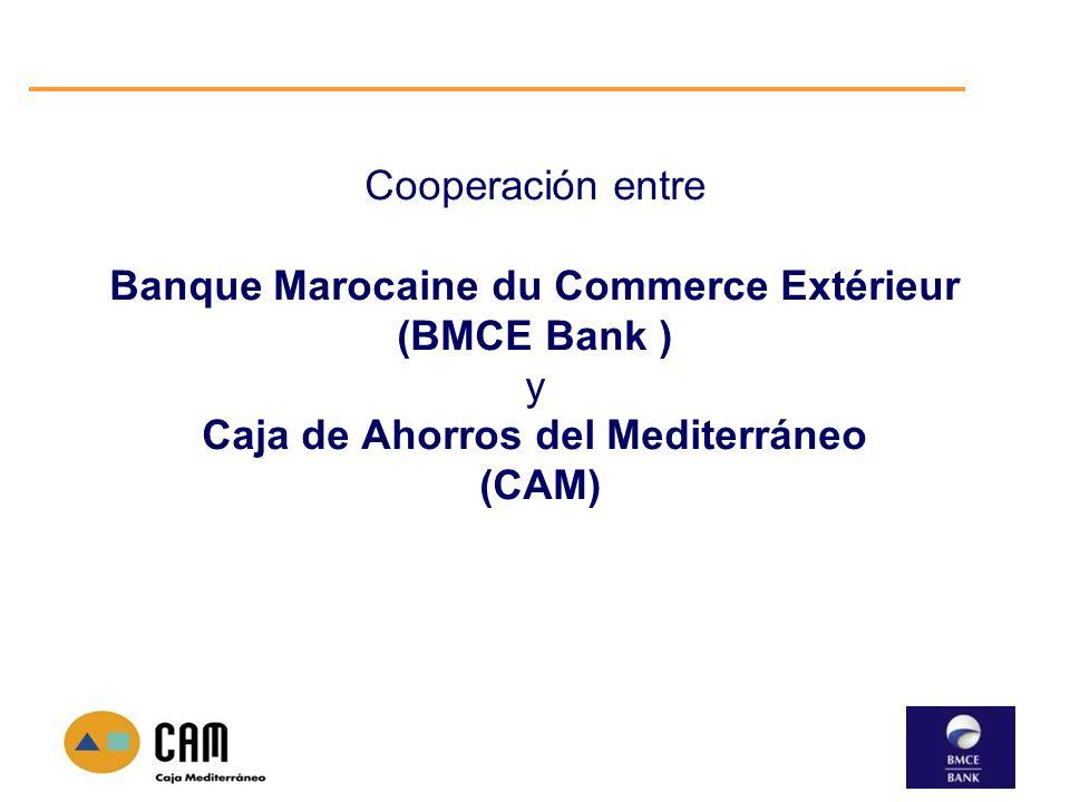 Cooperación entre Banque Marocaine du Commerce Extérieur (BMCE Bank ) y Caja de Ahorros del Mediterráneo (CAM)