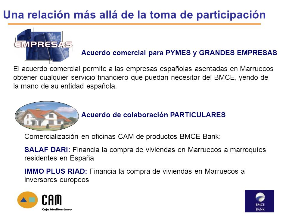 Cooperaci n entre banque marocaine du commerce ext rieur for Caja madrid oficina internet particulares