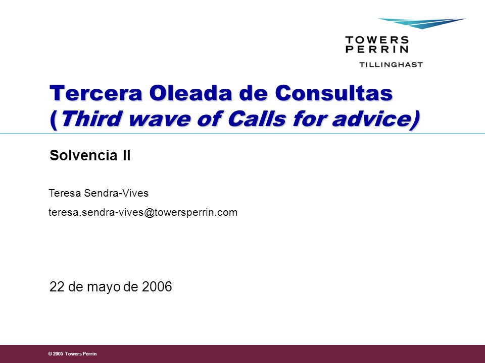 Tercera Oleada de Consultas (Third wave of Calls for advice)