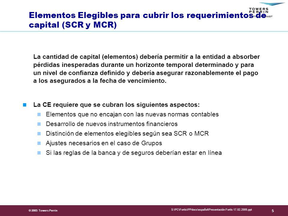 Presentation Title Elementos Elegibles para cubrir los requerimientos de capital (SCR y MCR)