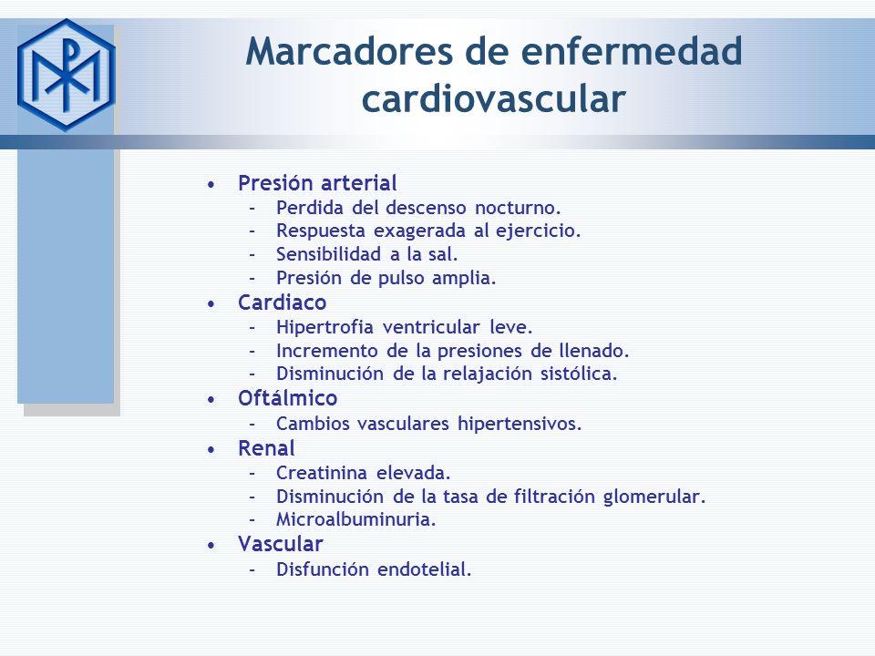 Marcadores de enfermedad cardiovascular