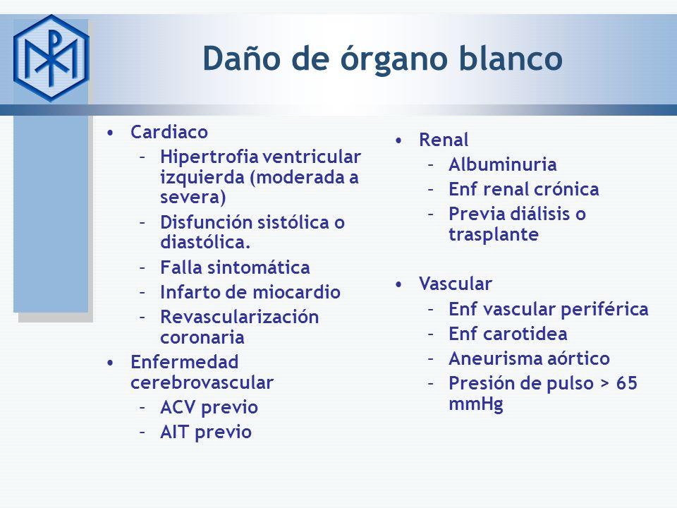 Daño de órgano blanco Cardiaco