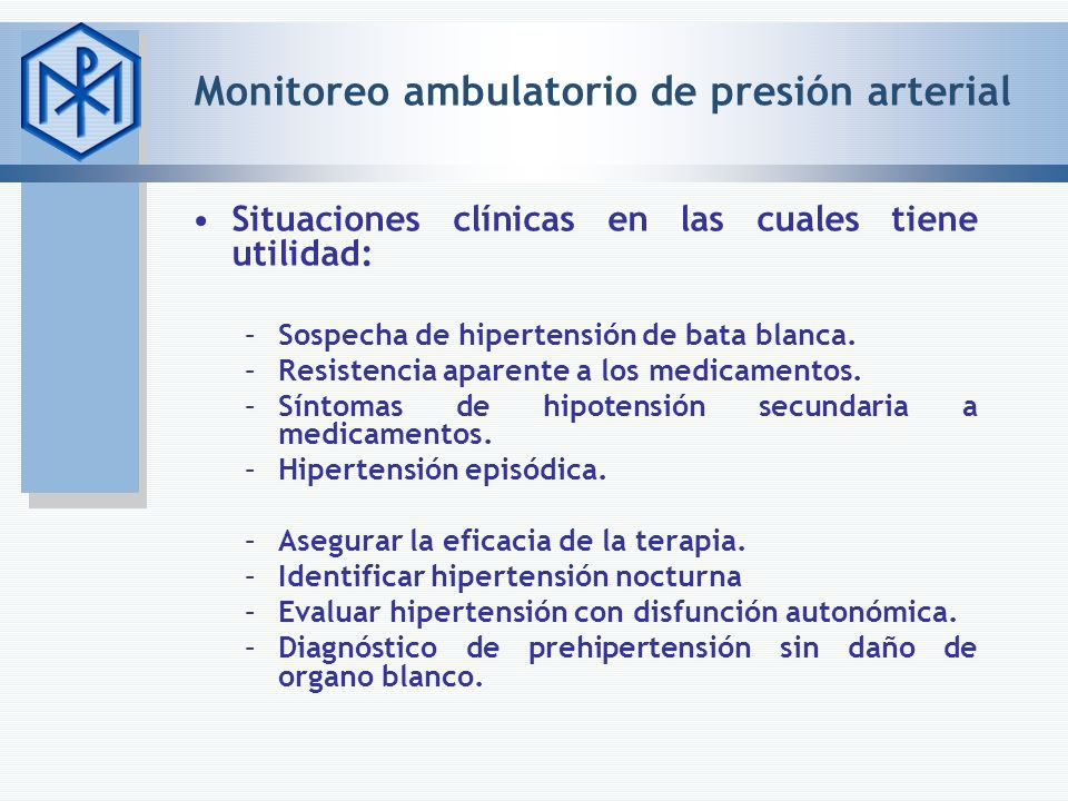 Monitoreo ambulatorio de presión arterial
