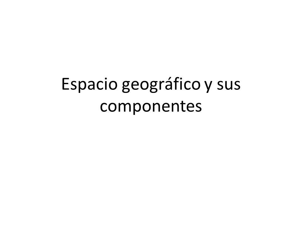 Espacio geográfico y sus componentes