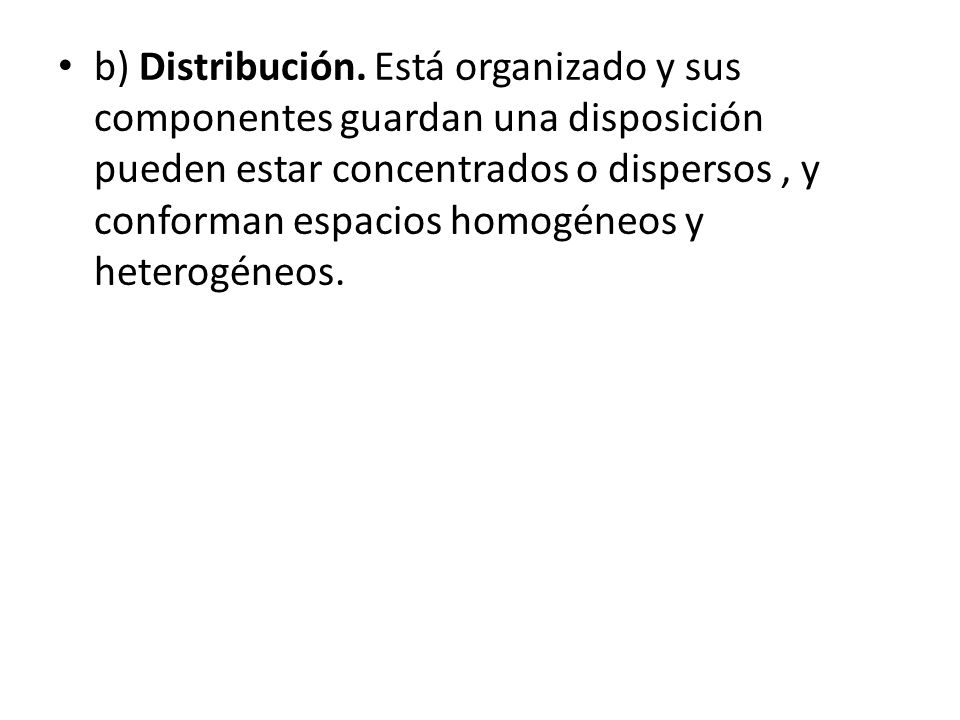 b) Distribución.