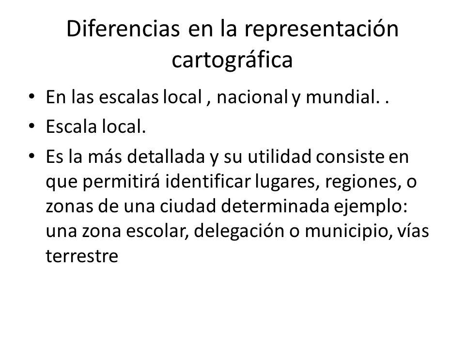 Diferencias en la representación cartográfica