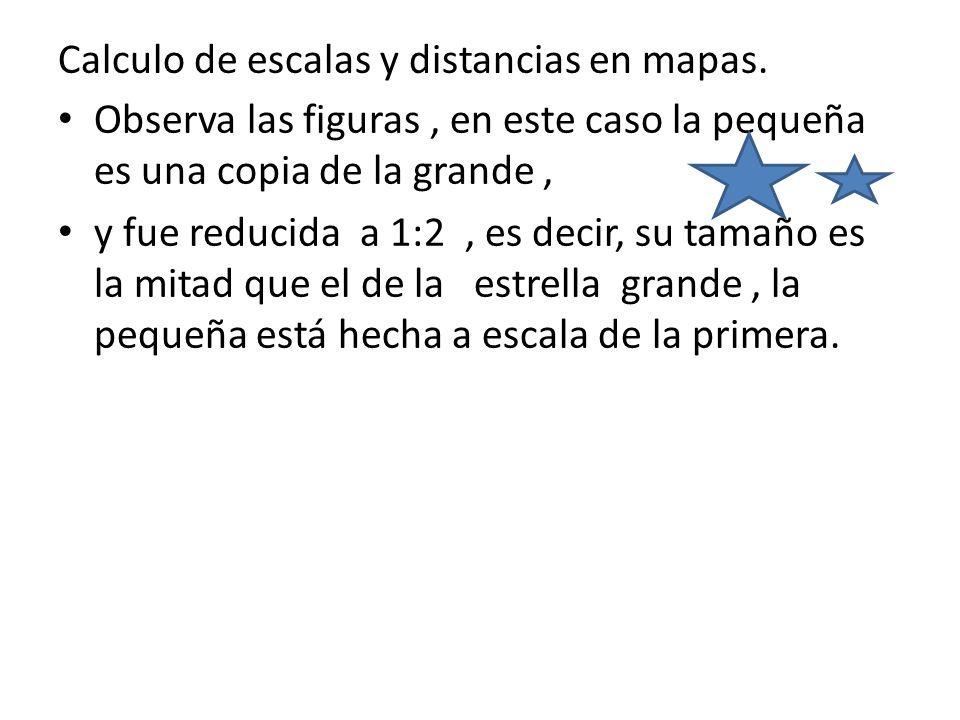 Calculo de escalas y distancias en mapas.