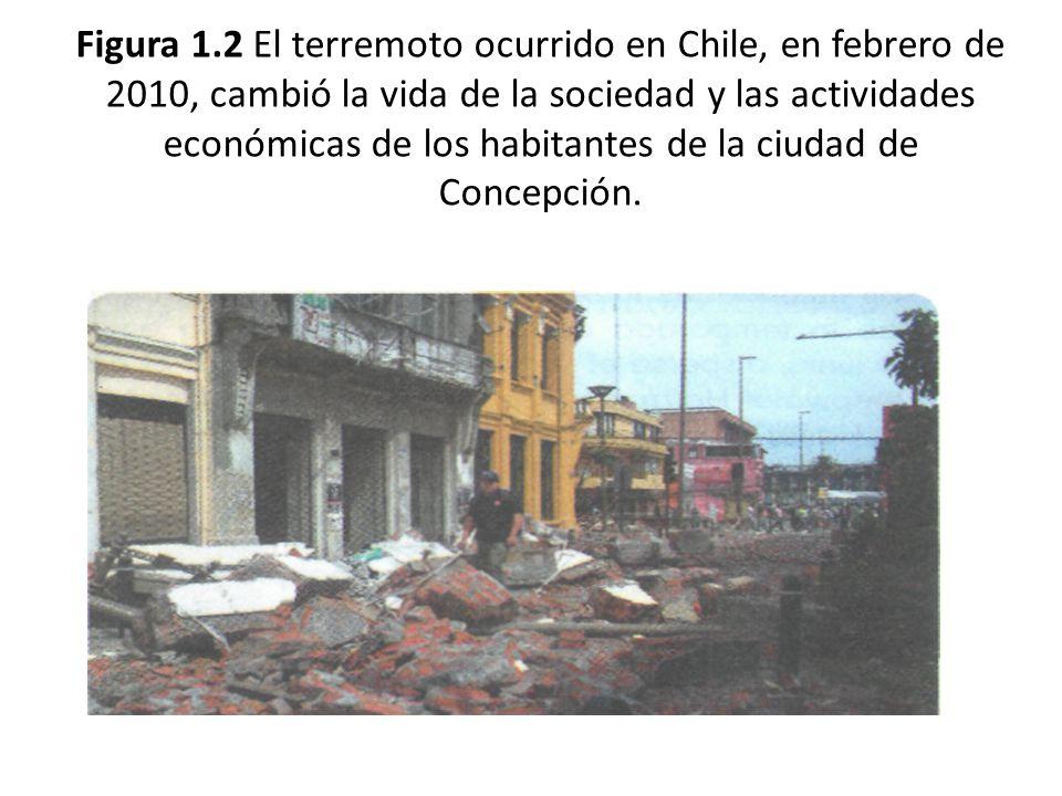 Figura 1.2 El terremoto ocurrido en Chile, en febrero de 2010, cambió la vida de la sociedad y las actividades económicas de los habitantes de la ciudad de Concepción.