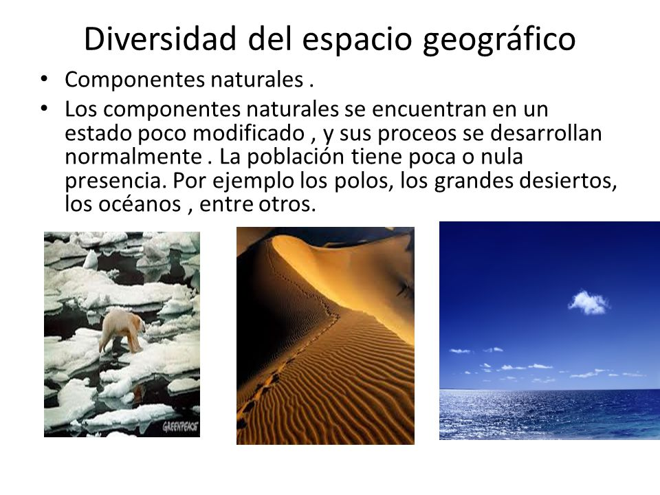 Diversidad del espacio geográfico