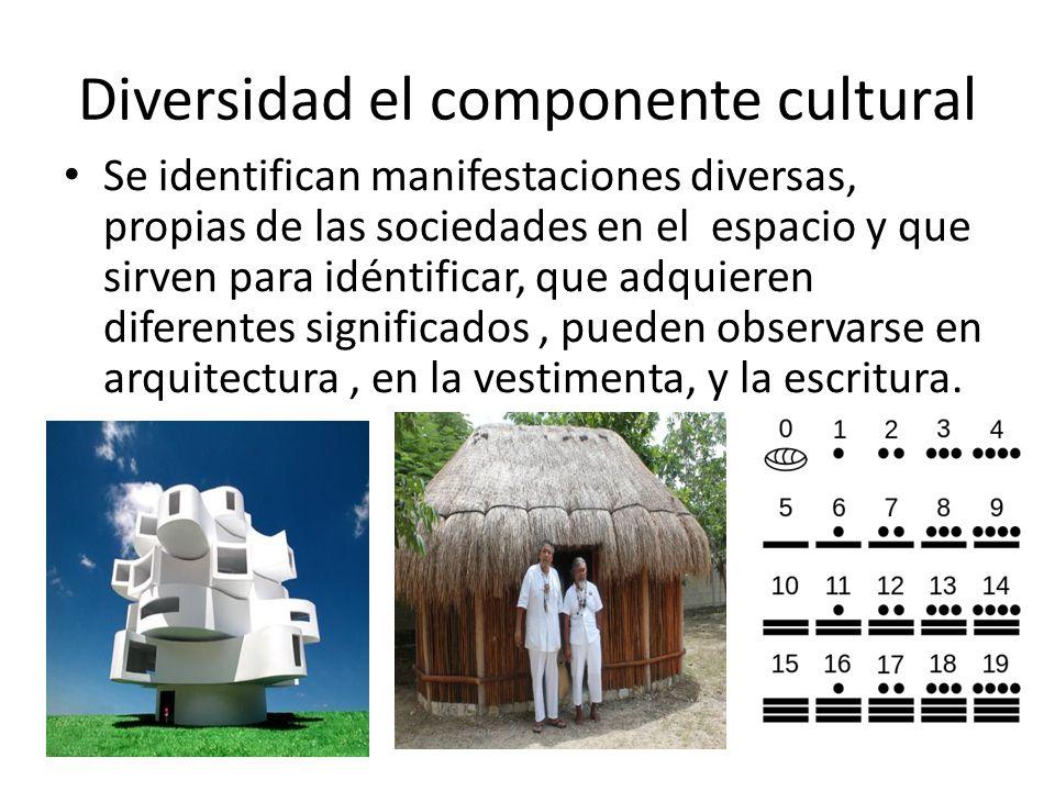 Diversidad el componente cultural