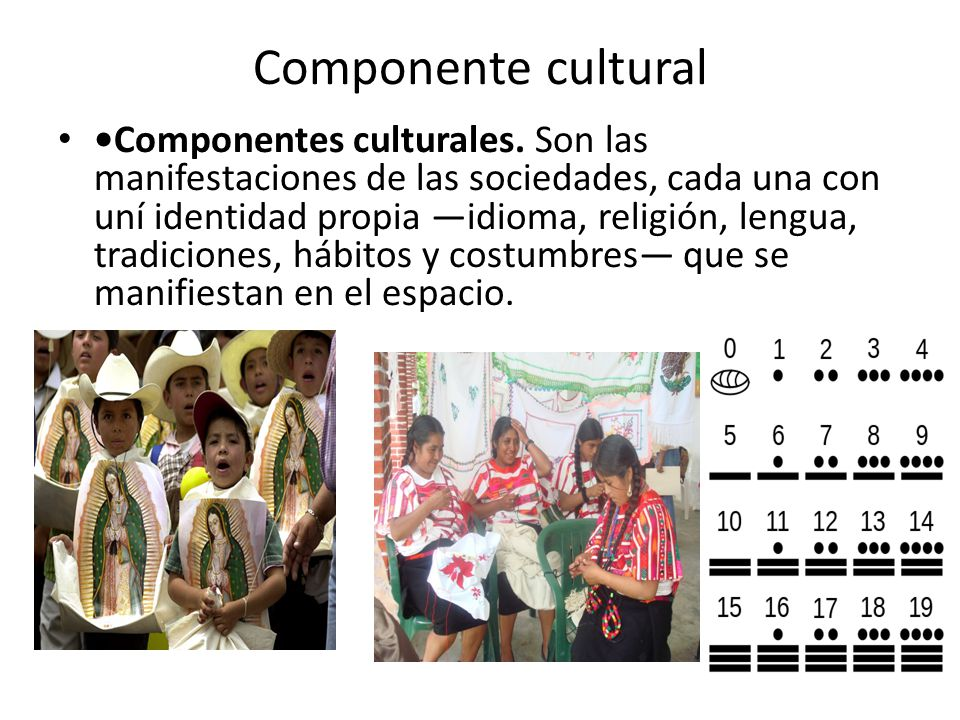 Componente cultural