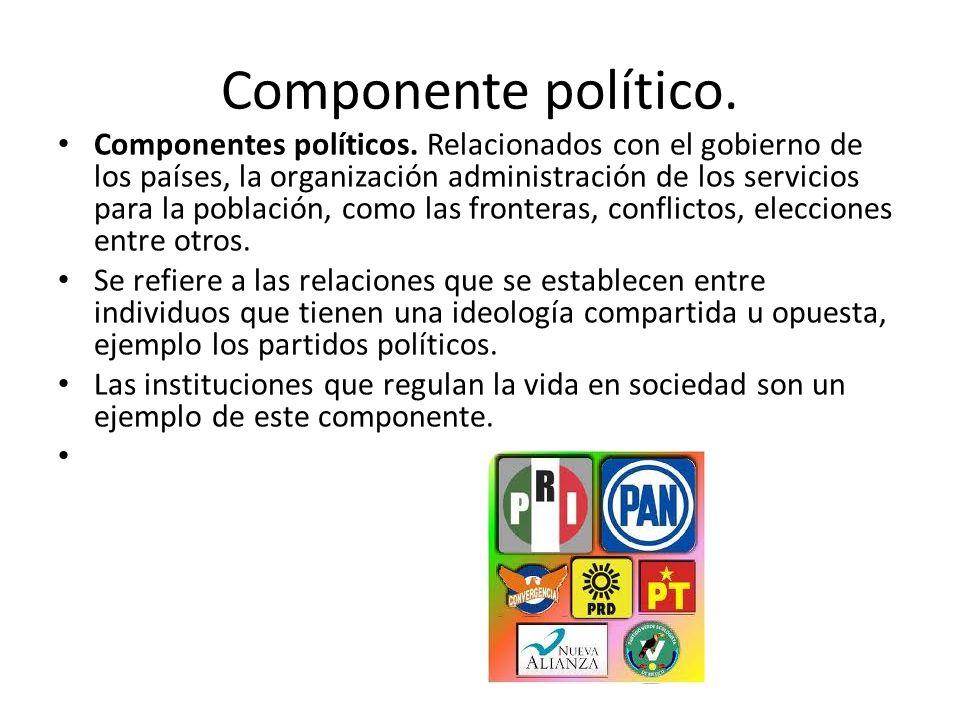 Componente político.