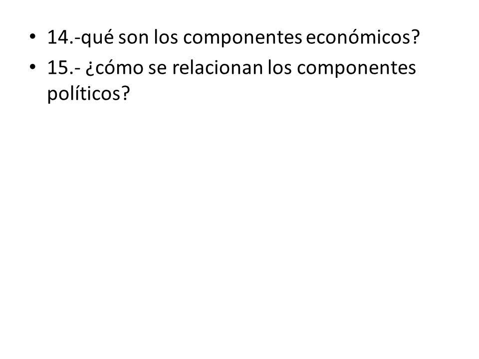 14.-qué son los componentes económicos