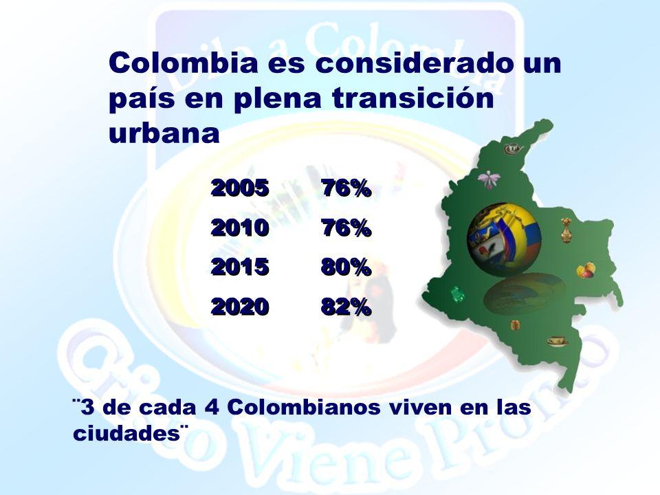 Colombia es considerado un país en plena transición urbana