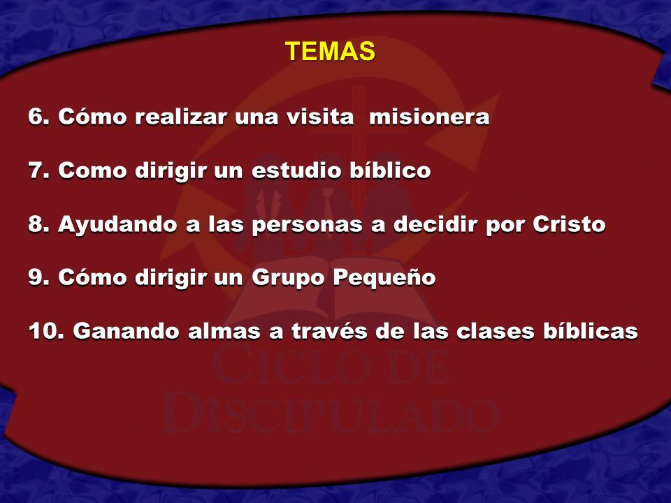 TEMAS 6. Cómo realizar una visita misionera