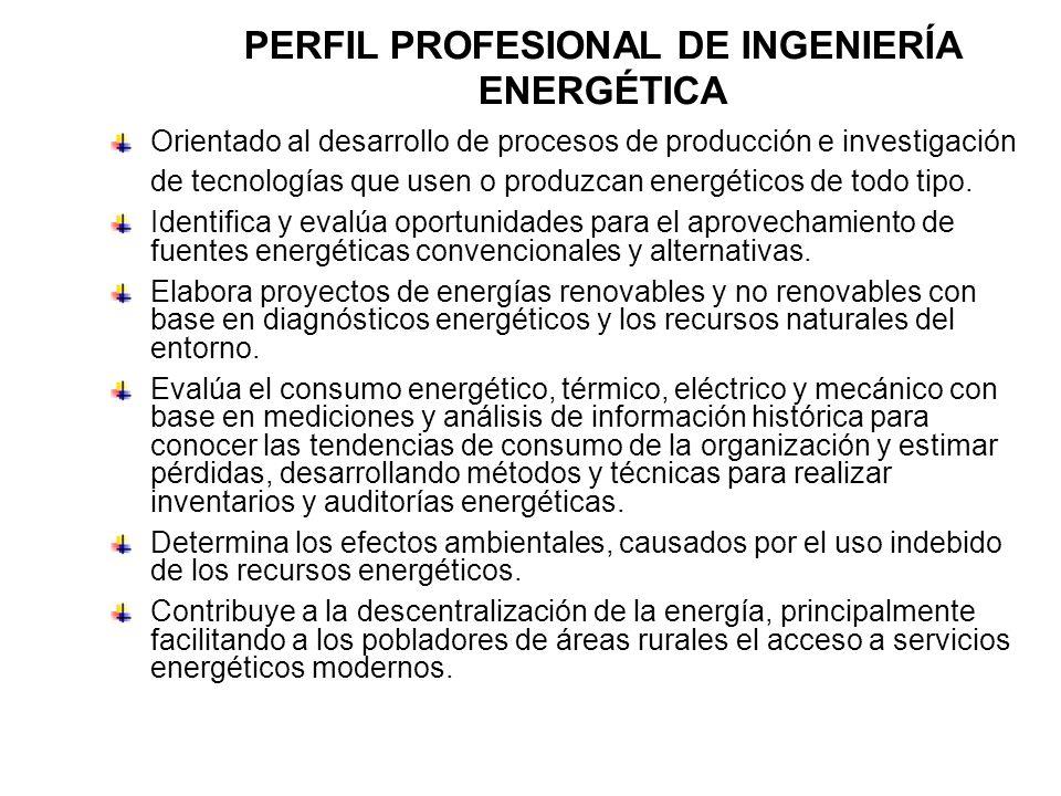PERFIL PROFESIONAL DE INGENIERÍA ENERGÉTICA