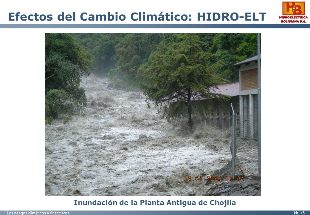 Efectos del Cambio Climático: HIDRO-ELT