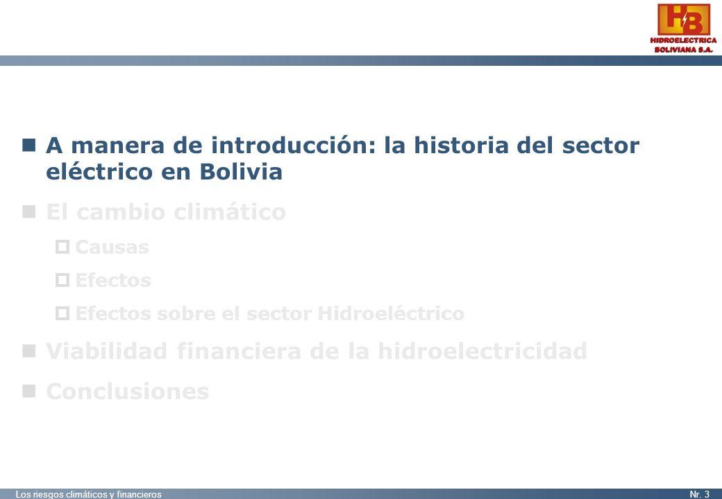 A manera de introducción: la historia del sector eléctrico en Bolivia
