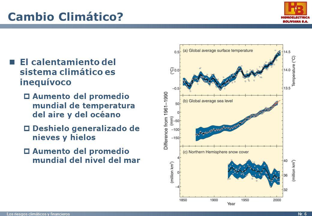 Cambio Climático El calentamiento del sistema climático es inequívoco