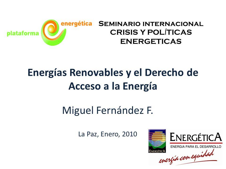 Energías Renovables y el Derecho de Acceso a la Energía