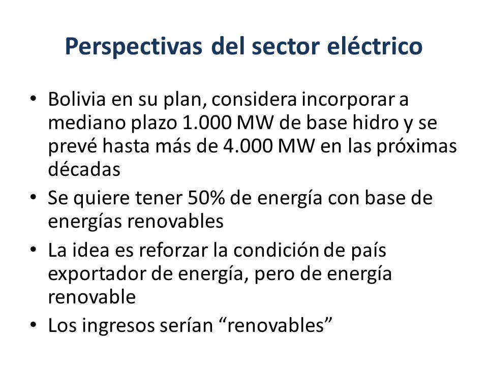 Perspectivas del sector eléctrico