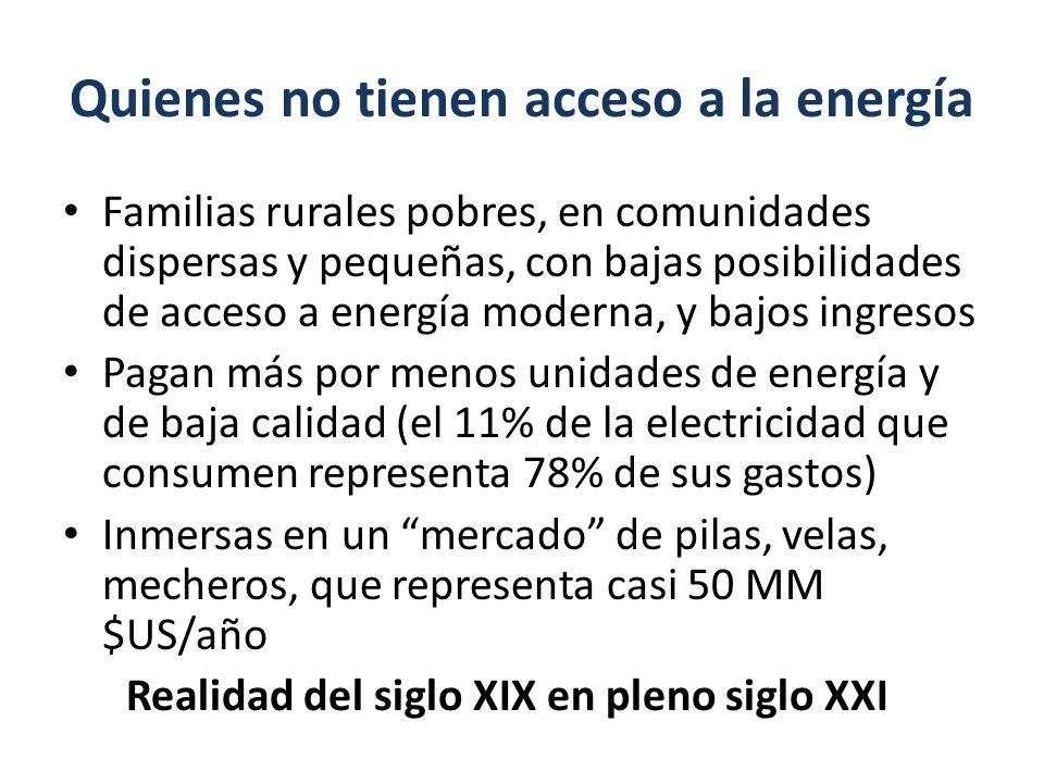 Quienes no tienen acceso a la energía