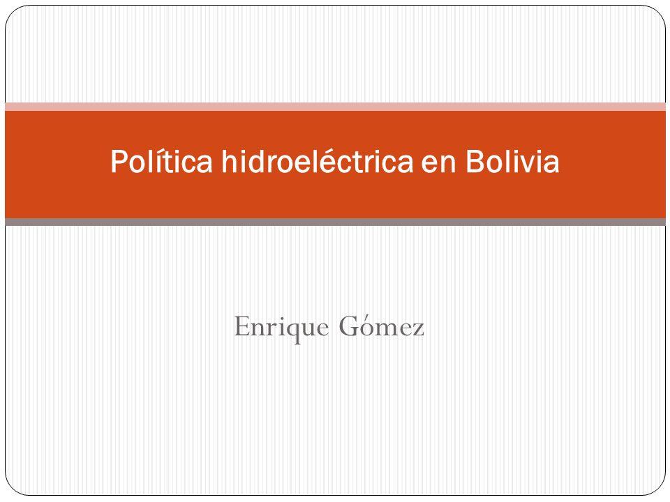 Política hidroeléctrica en Bolivia