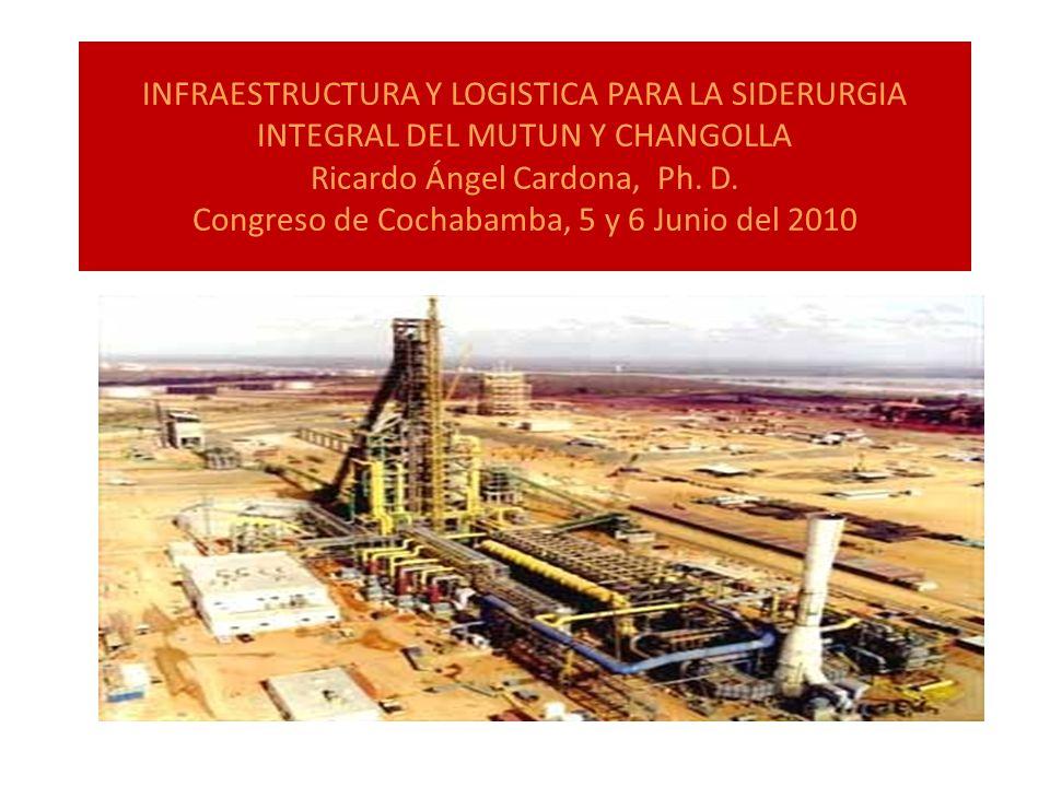 INFRAESTRUCTURA Y LOGISTICA PARA LA SIDERURGIA INTEGRAL DEL MUTUN Y CHANGOLLA Ricardo Ángel Cardona, Ph.