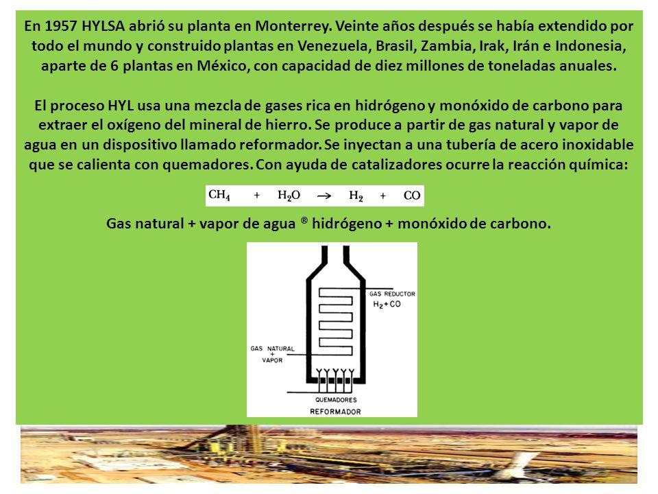 En 1957 HYLSA abrió su planta en Monterrey