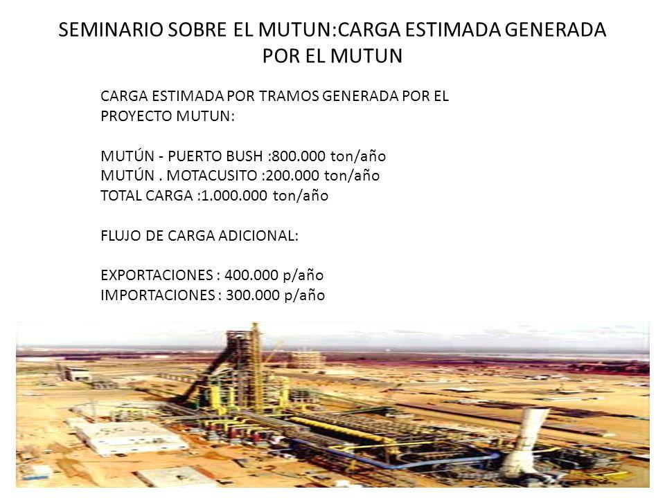 SEMINARIO SOBRE EL MUTUN:CARGA ESTIMADA GENERADA POR EL MUTUN