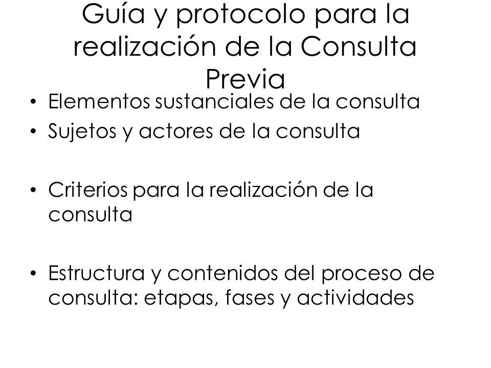 Guía y protocolo para la realización de la Consulta Previa