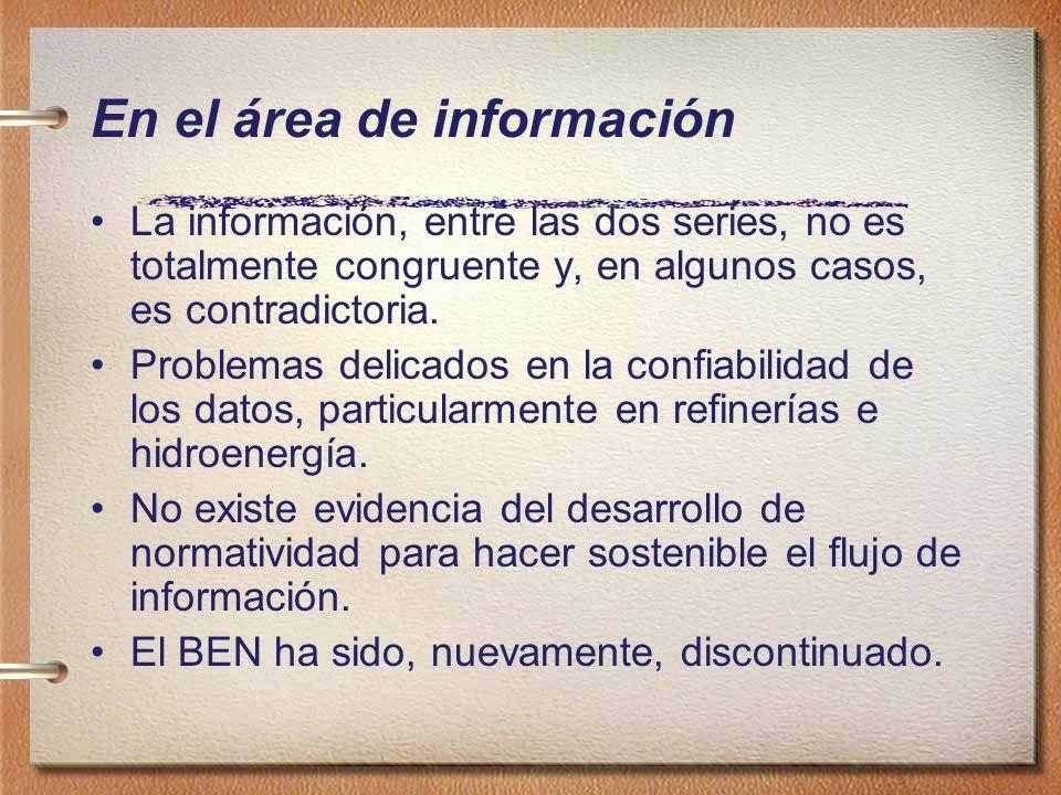 En el área de información