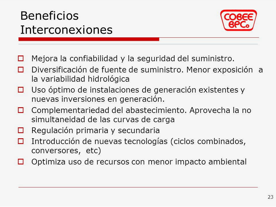 Beneficios Interconexiones
