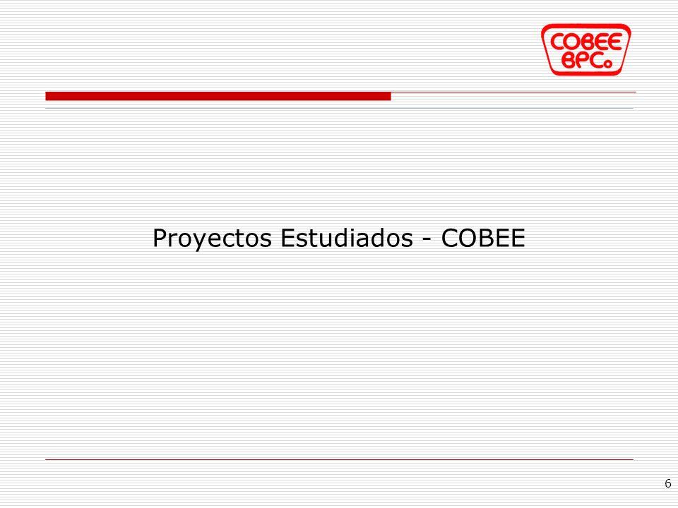 Proyectos Estudiados - COBEE