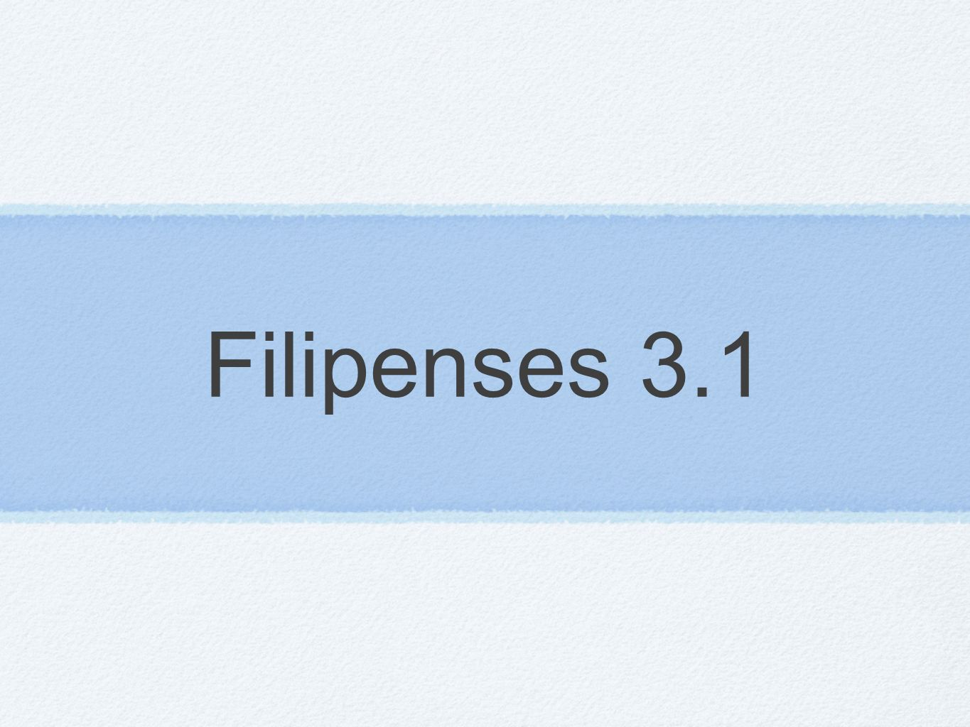 Filipenses 3.1