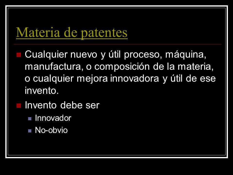 Materia de patentes