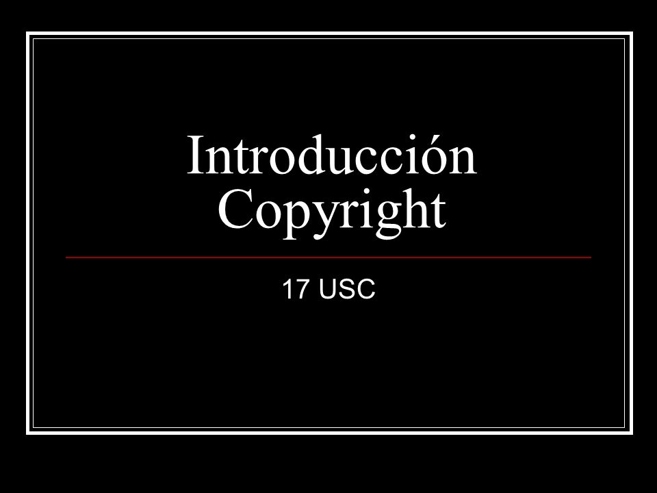 Introducción Copyright