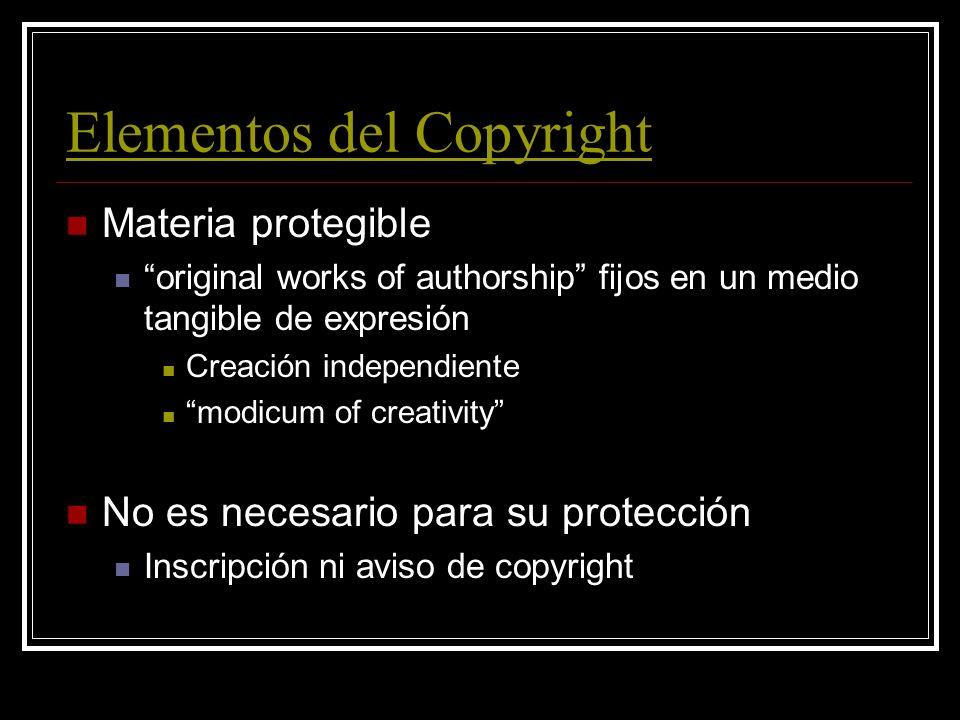 Elementos del Copyright