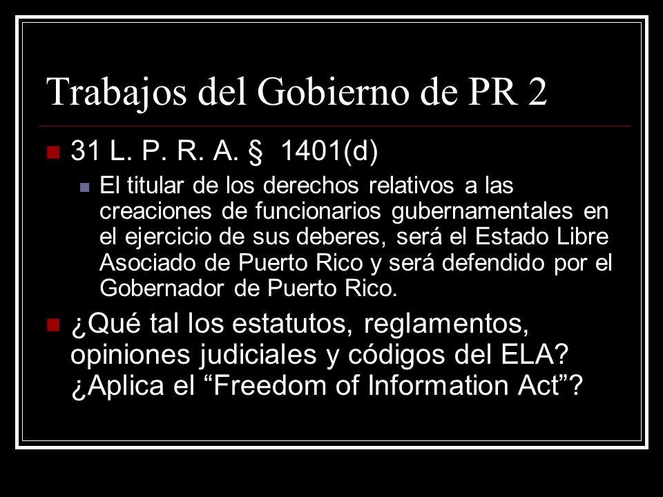 Trabajos del Gobierno de PR 2
