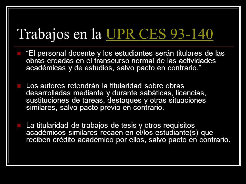 Trabajos en la UPR CES 93-140