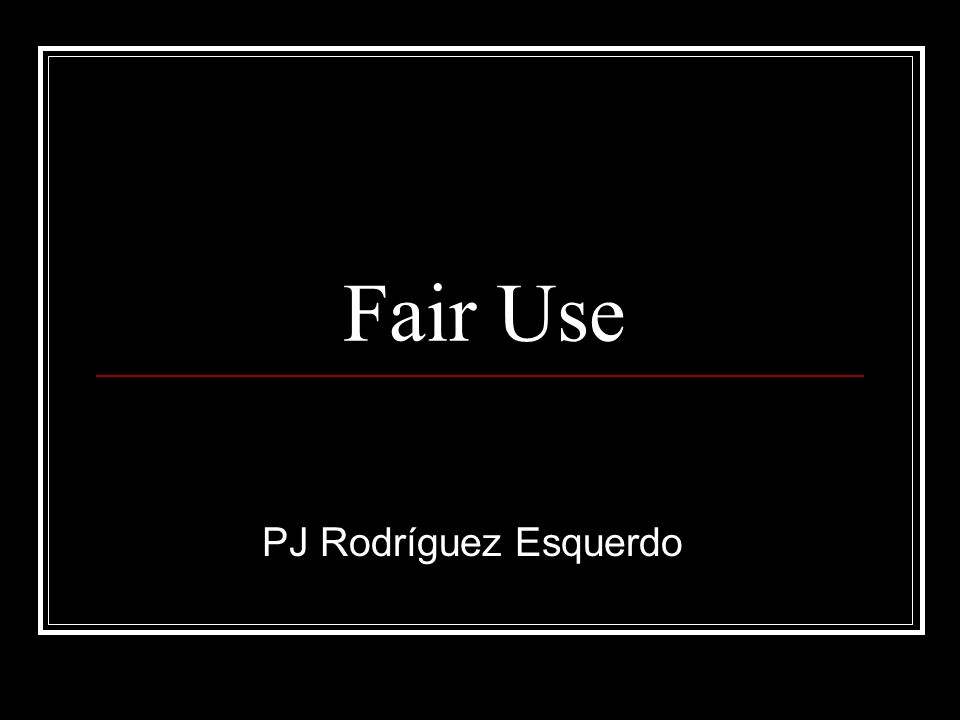 Fair Use PJ Rodríguez Esquerdo